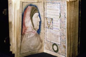 Frontespizio con un ritratto di Francesco Petrarca. Canzoniere. Manoscritto del XV secolo
