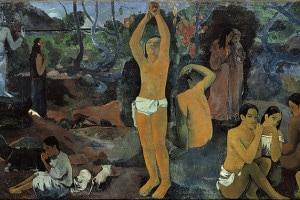 Da dove veniamo? Chi siamo? Dove andiamo? Dipinto di Paul Gauguin. Olio su tela, 139,1 x 374,6 cm. Museum of Fine Arts, Boston, USA