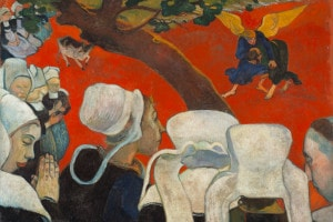 La visione dopo il sermone di Paul Gauguin, 1888. Collezione della National Gallery of Scotland, Edimburgo