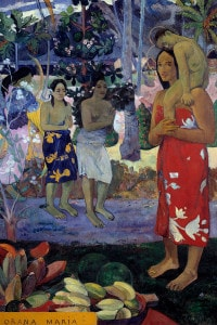 Ave Maria o la Orana Maria, 1891. Dipinto di Paul Gauguin. 1,13 x 0,87 m. Metropolitan Museum of Art, New York