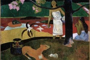 Pastorali tahitiane, 1892. Dipinto di Paul Gauguin. Collezione dell'Ermitage, San Pietroburgo