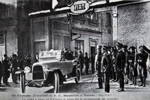 Un'automobile Fiat che fu donata a Benito Mussolini