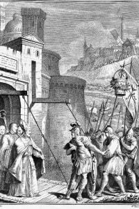 Alessandro Tassoni (1565-1635), La secchia rapita. Incisione di Zucchi. Modena Edition, 1744