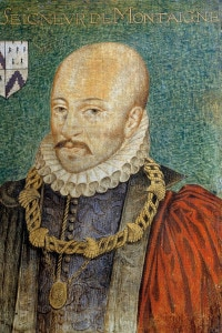 Ritratto di Michel Eyquem, Lord di Montaigne (1533-1572), con indosso il colletto dell'Ordine di San Michele