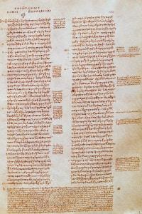 Manoscritto greco dai Dialoghi di Platone