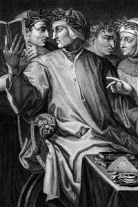 Opera del Vasari che rappresenta i grandi poeti del 200 e 300 tra cui Guittone D'Arezzo