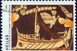 Ulisse (Odisseo) e le sirene: illustrazione
