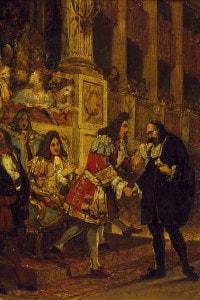 Pierre Corneille viene ricevuto dal Grand Condè dopo l'esecuzione della tragedia Cinna