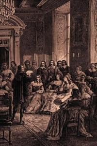 Pierre Corneille legge le sue opere all'Hôtel Rambouillet