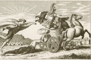 Achille trascina il corpo di Ettore