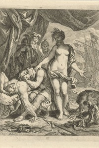 Achille piange la morte di Patroclo