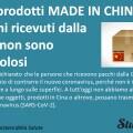 Prodotti made in China e pacchi ricevuti dalla Cina non sono pericolosi