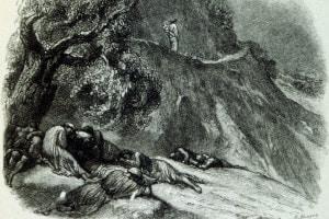Les déstinées di Alfred de Vigny. Illustrazione di G. Bellenger