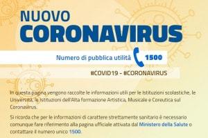 Coronavirus, aggiornamenti MIUR per studenti e scuole