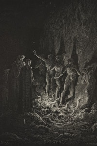 Dante, Virgilio, Stazio e le anime dei lussuriosi