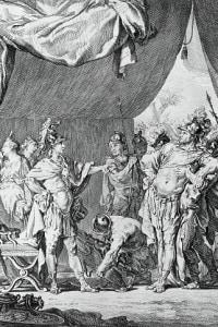 Illustrazione per Alexandre le Grand, tragedia di Jean Racine