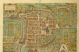 Mappa di Trento, città in cui si svolse il Concilio