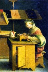 San Bonaventura da Bagnoregio nel suo studio (Bergamo, Accademia Carrara, XVI secolo)