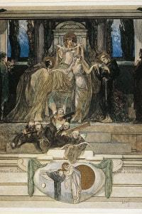 Canto XI Pardiso. Illustrazione di Franz von Bayros