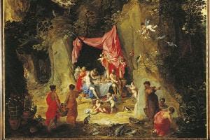 Odisseo e Calipso in un dipinto di Hendrik van Balen