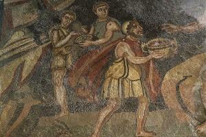 Una raffigurazione di Ulisse con i suoi compagni