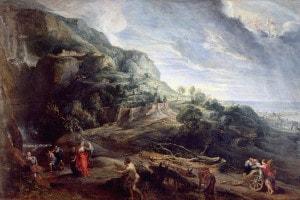 Ulisse sull'isola dei Feaci di Peter Paul Rubens