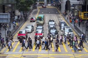 Pendolari a Hong Kong