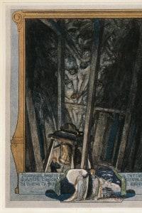 Immagine dal canto XV del Paradiso di Dante. Illustrazione di Franz von Bayros. Vienna 1921