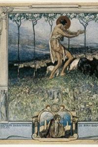 Canto XVI del Paradiso di Dante. Illustrazione di Franz von Bayros
