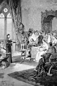 Dante in esilio presso la corte di Ravenna