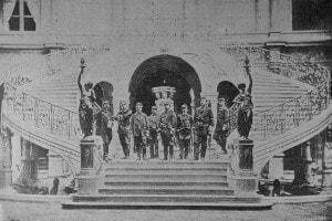 Comune di Parigi, maggio 1871. I capi di stato maggiore al piano di sotto del Municipio
