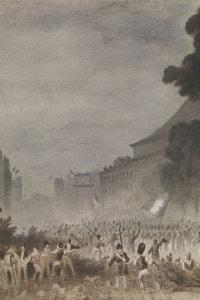 La rivoluzione di luglio sui Grands Boulevards di Parigi, 1830