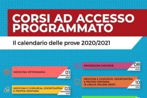Test numero programmato 2020-2021: le date dal MIUR