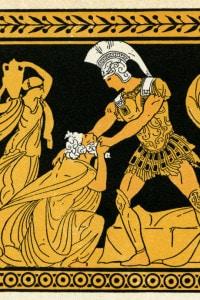 Priamo implora Achille di restituirgli il corpo del figlio Ettore