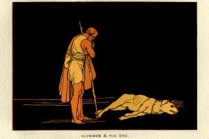 Ulisse e il suo cane Argo