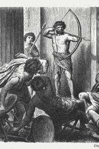 Ulisse uccide i pretendenti di Penelope