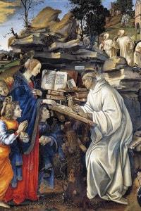 Apparizione della Vergine a San Bernardo di Filippino Lippi (1457-1504). Badia Fiorentina, Firenze