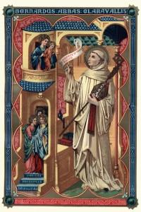 Incisione d'epoca di San Bernardo di Chiaravalle (1090-20 agosto 1153), fu un abate francese e il principale riformatore dell'ordine cistercense