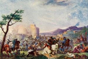 Giovanni III Sobieski (1629-1696), re di Polonia e Granduca di Lituania, difende Vienna dai turchi