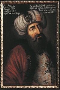 Ritratto di Kara Mustafa, Gran Visir di Maometto IV e comandante dell'esercito turco durante l'assedio di Vienna nel 1683
