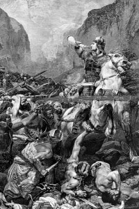 Il paladino Orlando nella Battaglia di Roncisvalle