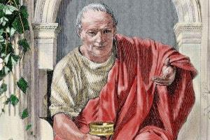 Orazio (65 a.C. - 8 a.C.), poeta lirico romano del periodo di Augusto