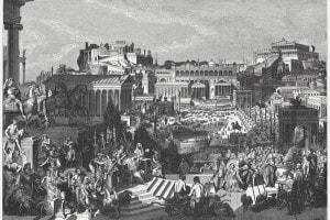 Il Foro romano ai tempi di Diocleziano