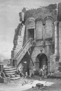 Antica illustriazione della casa di Virgilio, vicino Napoli