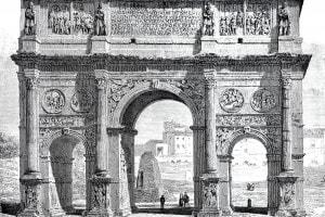 Roma antica: arco trionfale dell'imperatore Costantino I
