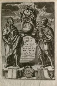 Frontespizio del Corpus iuris civilis di Giustiniano, 1663