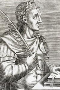 Incisione dell'imperatore bizantino Giustiniano I