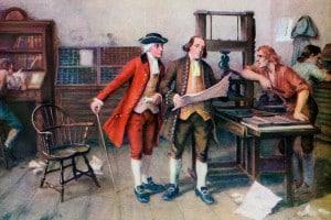 Benjamin Franklin e soci della sua tipografia, 1732