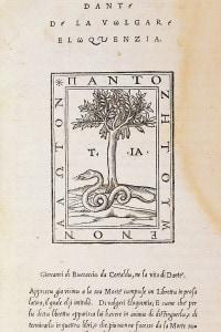 De vulgari eloquentia di Dante. Edizione del 1529