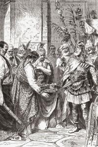 Odoacre depone Romolo Augusto nel 476 d.C.